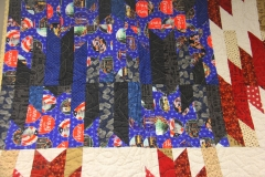 Custom scale  pattern  - Shooting Stars American Flag quilt Delectable Mountains piecing