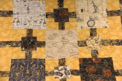 """Option 4 pattern  - Block by block Feather Swirl Block 2 Feathered Square 3 """"Charmed I'm Sure"""" quilt Throw size"""